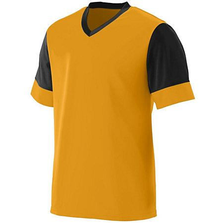 Lightning Jersey Gold/black Adult Single Soccer & Shorts
