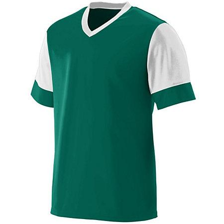 Lightning Jersey Dark Green/white Adult Single Soccer & Shorts