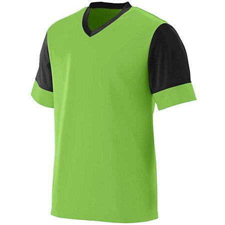 Lightning Jersey Lime/black Adult Single Soccer & Shorts