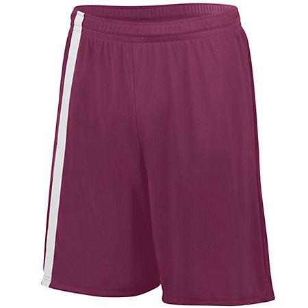 Attacking Third Shorts Maroon/white Adult Single Soccer Jersey &