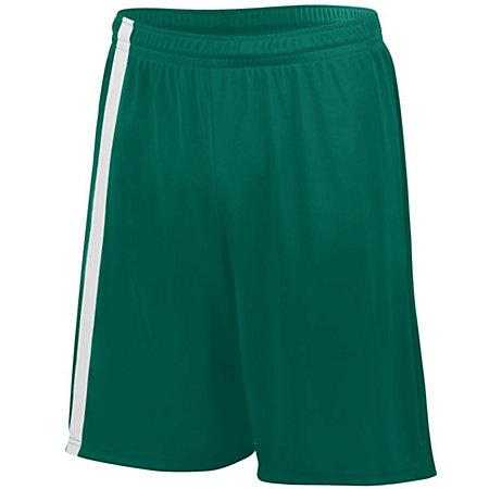 Youth Attacking Third Shorts Jersey de fútbol individual verde oscuro / blanco y