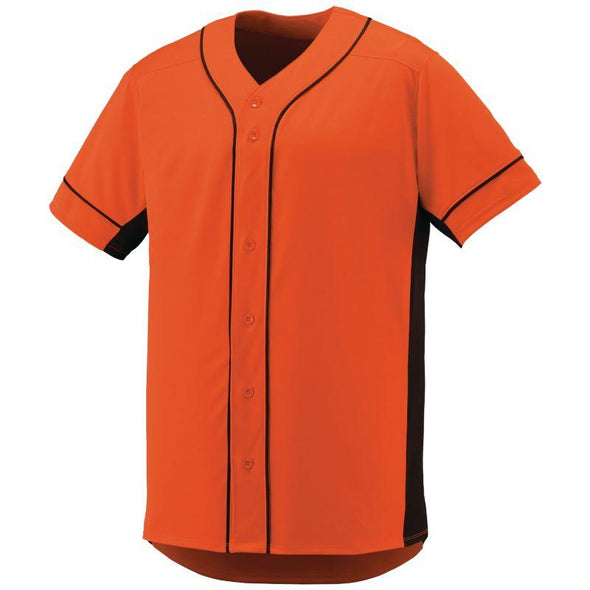 Slugger Jersey Orange/black Adult Baseball
