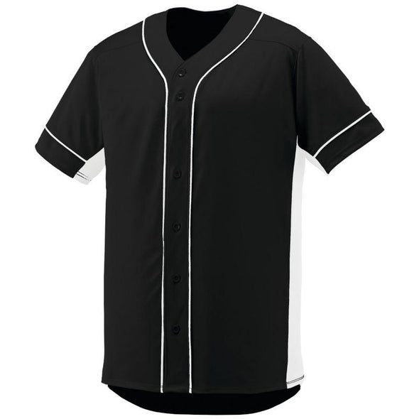Slugger Jersey Black/white Adult Baseball