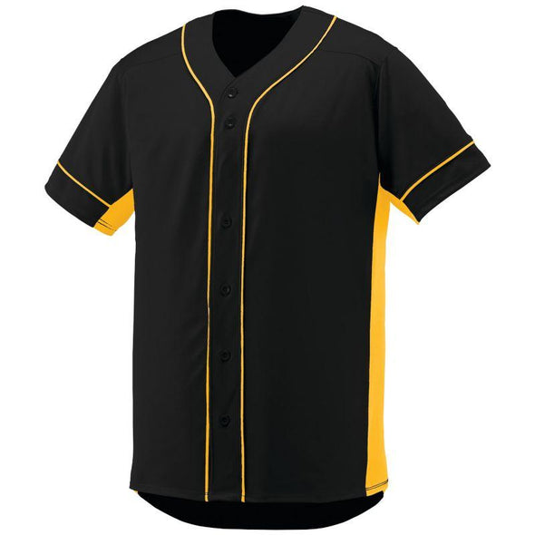 Slugger Jersey Black/gold Adult Baseball