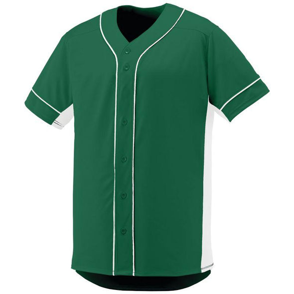 Slugger Jersey Dark Green/white Adult Baseball