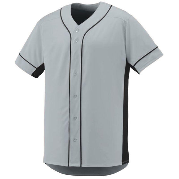 Youth Slugger Jersey Silver/black Baseball