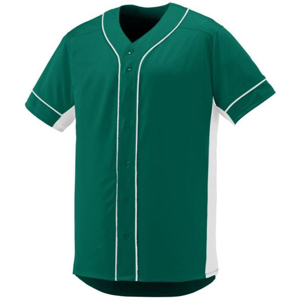 Youth Slugger Jersey Dark Green/white Baseball