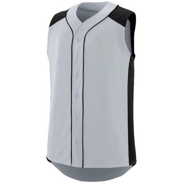 Sleeveless Slugger Jersey Silver/black Adult Baseball