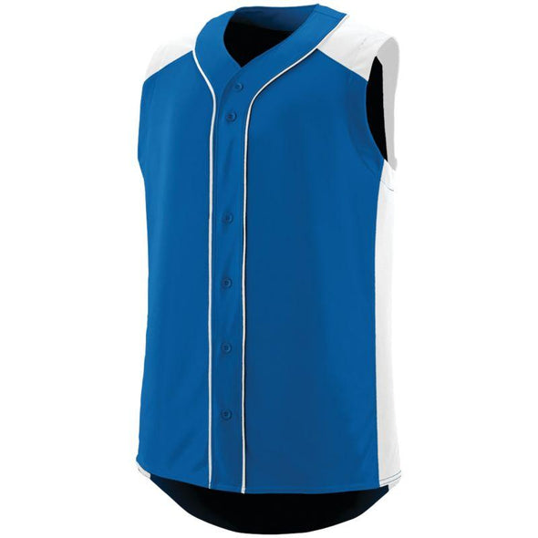 Sleeveless Slugger Jersey Royal/white Adult Baseball