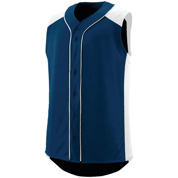 Sleeveless Slugger Jersey Navy/white Adult Baseball