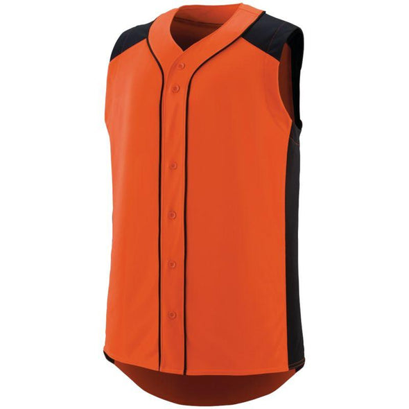 Sleeveless Slugger Jersey Orange/black Adult Baseball