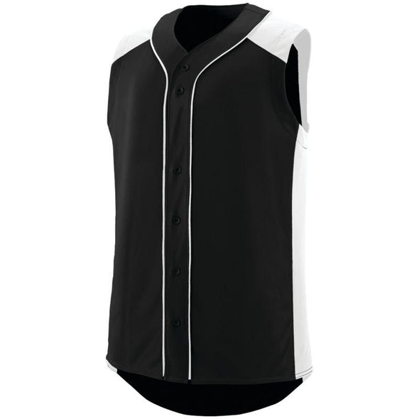 Sleeveless Slugger Jersey Black/white Adult Baseball