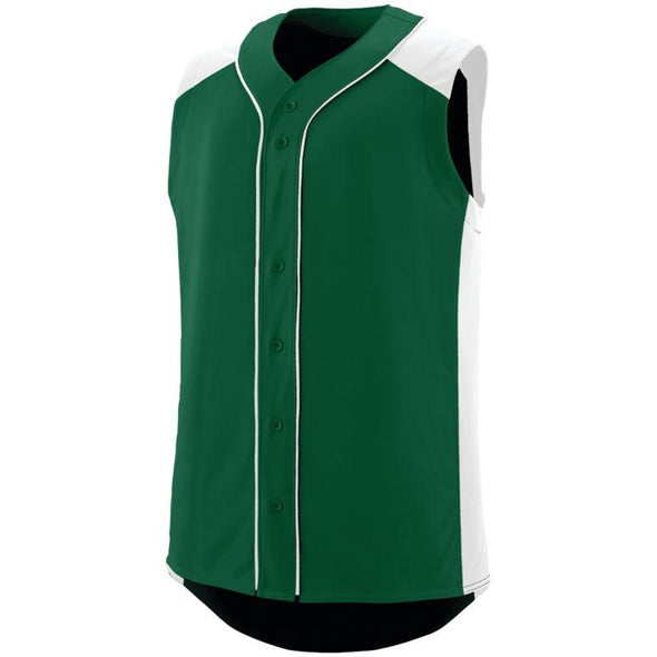 Sleeveless Slugger Jersey Dark Green/white Adult Baseball