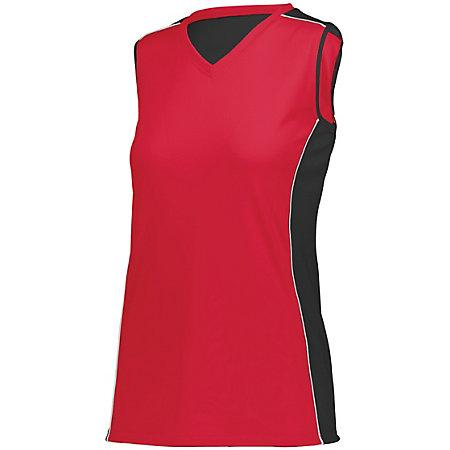 Ladies Paragon Jersey Red/black/white Adult Volleyball