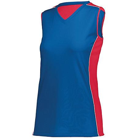Ladies Paragon Jersey Royal/red/white Adult Volleyball