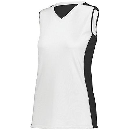 Ladies Paragon Jersey White/black/white Adult Volleyball