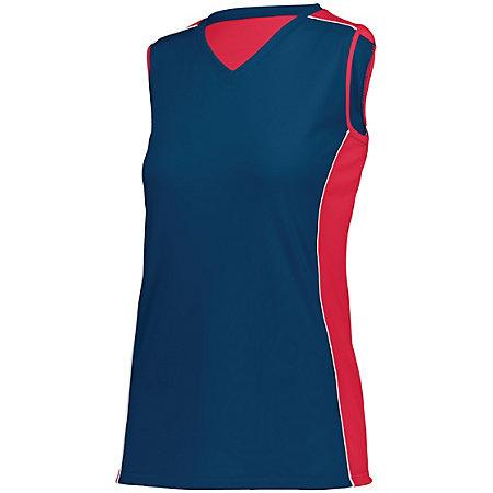Ladies Paragon Jersey Navy/red/white Adult Volleyball