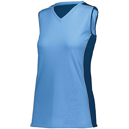 Ladies Paragon Jersey Columbia Blue/navy/white Adult Volleyball
