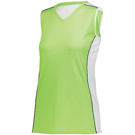 Ladies Paragon Jersey Lime/white/black Adult Volleyball
