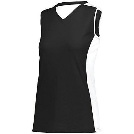 Ladies Paragon Jersey Black/white/silver Grey Adult Volleyball