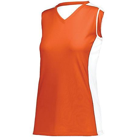 Ladies Paragon Jersey Orange/white/silver Grey Adult Volleyball