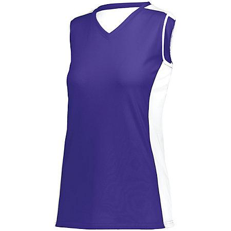 Ladies Paragon Jersey Purple/white/silver Grey Adult Volleyball