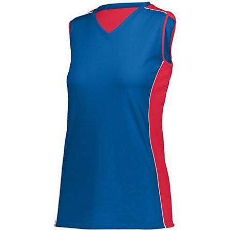 Niñas Paragon Jersey Royal / rojo / blanco Youth Volleyball