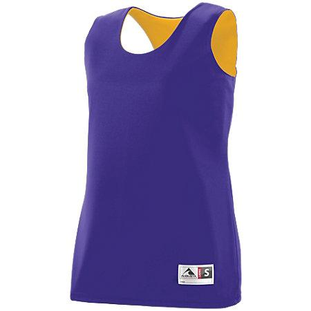 Ladies Reversible Wicking Tank Purple/gold Basketball Single Jersey & Shorts