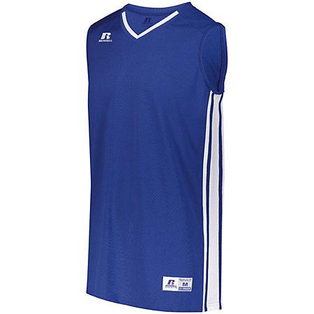 Youth Legacy Basketball Jersey Royal/white Single & Shorts
