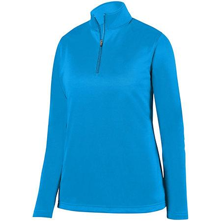 Ladies Wicking Fleece Pullover Power Blue Basketball Single Jersey & Shorts