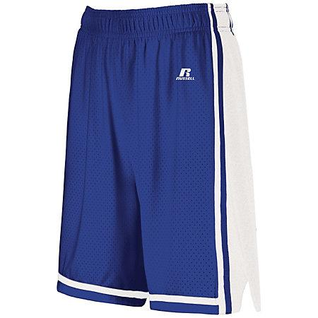 Ladies Legacy Basketball Shorts Royal/white Single Jersey &