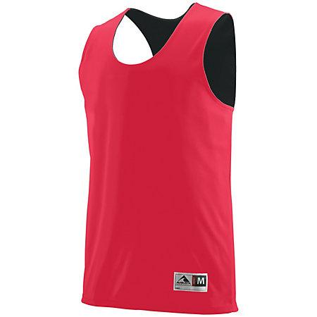 Youth Reversible Wicking Tank Red/black Basketball Single Jersey & Shorts