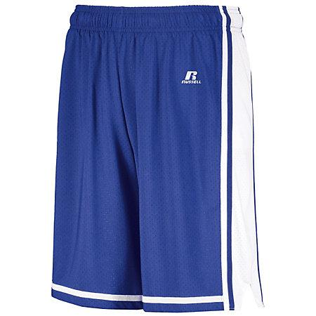 Youth Legacy Basketball Shorts Royal/white Single Jersey &