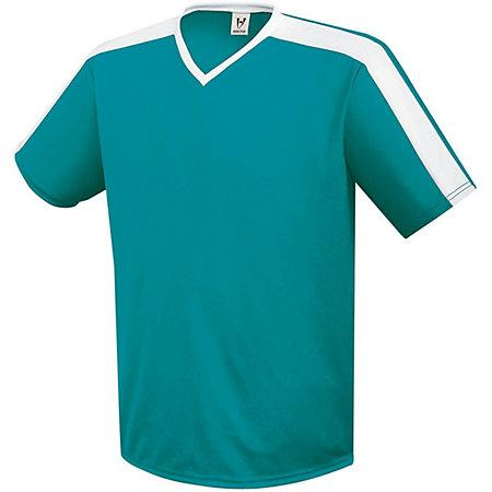 Youth Genesis Soccer Jersey Teal / blanco Single & Shorts