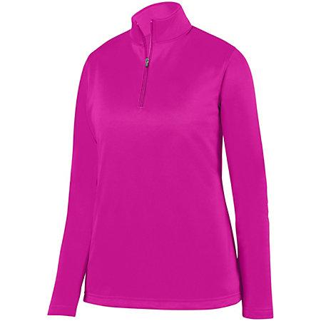 Ladies Wicking Fleece Pullover Power Pink Softball