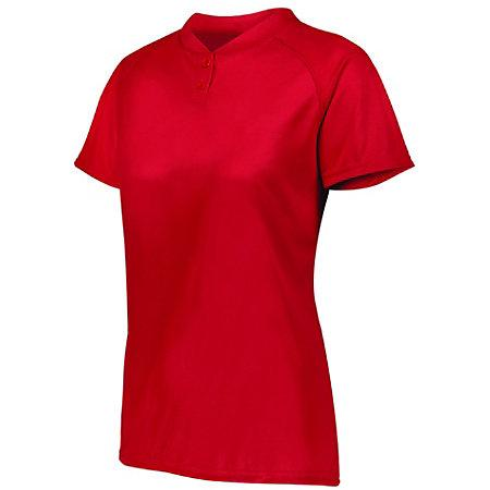Ladies Attain Two-Button Jersey Red Softball