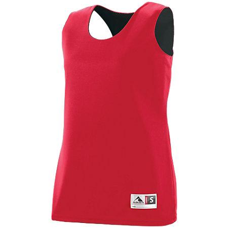 Ladies Reversible Wicking Tank Red/black Basketball Single Jersey & Shorts