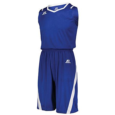 Athletic Cut Jersey Royal / white Adult Baloncesto Single & Shorts