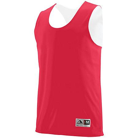 Youth Reversible Wicking Tank Red/white Basketball Single Jersey & Shorts