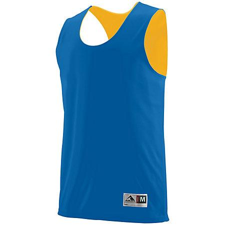 Youth Reversible Wicking Tank Royal/gold Basketball Single Jersey & Shorts