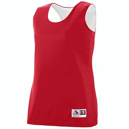 Ladies Reversible Wicking Tank Red/white Basketball Single Jersey & Shorts