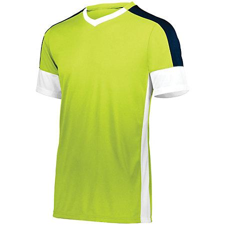 Youth Wembley Soccer Jersey Lime/white/navy Single & Shorts