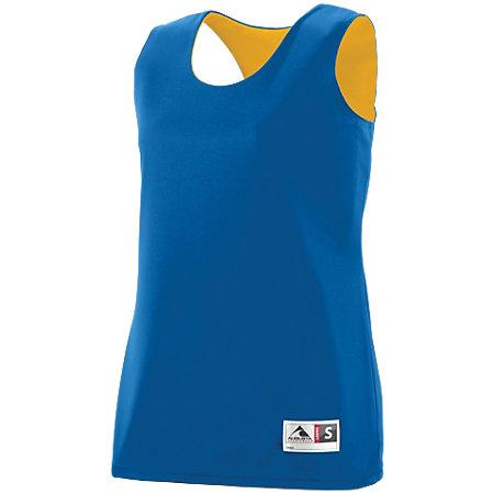 Ladies Reversible Wicking Tank Royal/gold Basketball Single Jersey & Shorts
