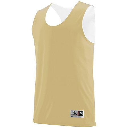 Youth Reversible Wicking Tank Vegas Gold/white Basketball Single Jersey & Shorts
