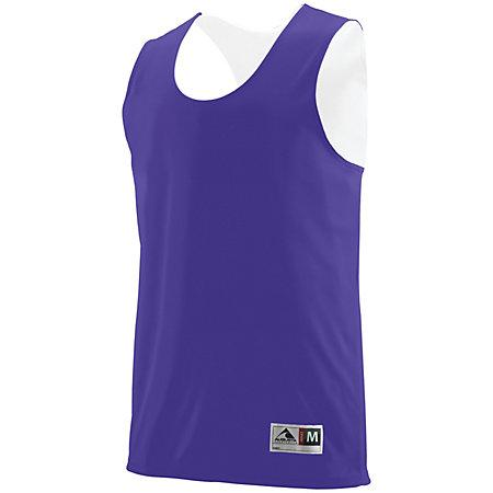 Youth Reversible Wicking Tank Purple/white Basketball Single Jersey & Shorts