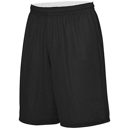 Youth Reversible Wicking Shorts Black/white Basketball Single Jersey &