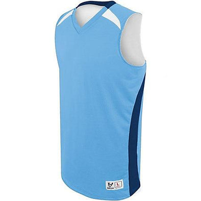Campus reversible Jersey Columbia azul / azul marino / blanco adulto Baloncesto Single & Shorts