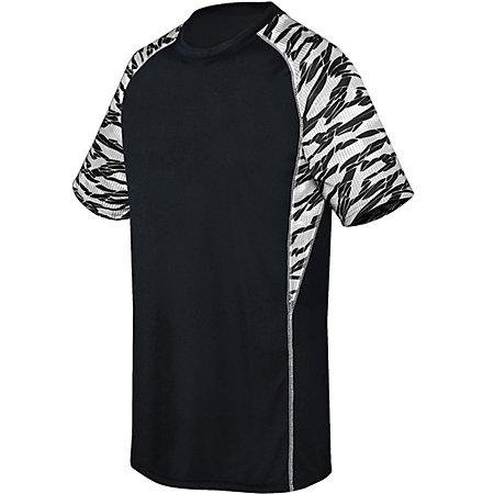 Youth Evolution Printed Shorts Sleeve Jersey Black/fragment Print/white Single Soccer &