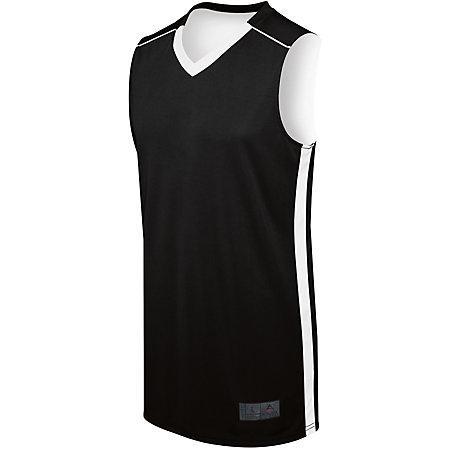 Adult Competition Reversible Jersey Black/white Basketball Single & Shorts