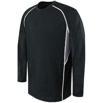 Youth Long Sleeve Evolution Black/graphite/white Basketball Single Jersey & Shorts